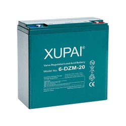 XUPAI Rechargeable Storage Made in China 4PCS/CTN Led-acid Battery:12V 20ah x 4
