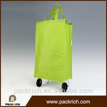 Most Popular environmental 2016 trolley shopping bag vegetable for shopping