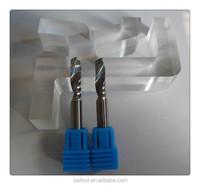 3.175*3*17mm (SHK*CED*CEL)One Flute Spiral cutter/CNC Router Bits/ single-blade Acrylic cutter