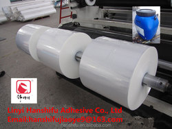 Super Plastic Film glue for paper and paper with plastic film made in Linyi China