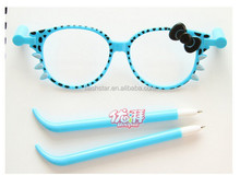 KT glasses pen Small pure and fresh and lovely South Korea's creative stationery lovely pen Cartoon ball-point pen