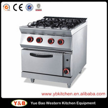Stainless Steel Gas Range with 4 - Burner & Oven / Cooking Range