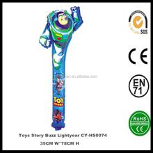 Venta al por mayor juguetes inflables toy Story Buzz Lightyear del palillo de la chapaleta globo de la hoja