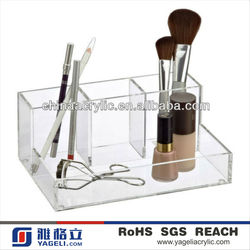 Crystal Clear 4-Section Acrylic Make-Up Desk Counter Cosmetic Organizer Container Store