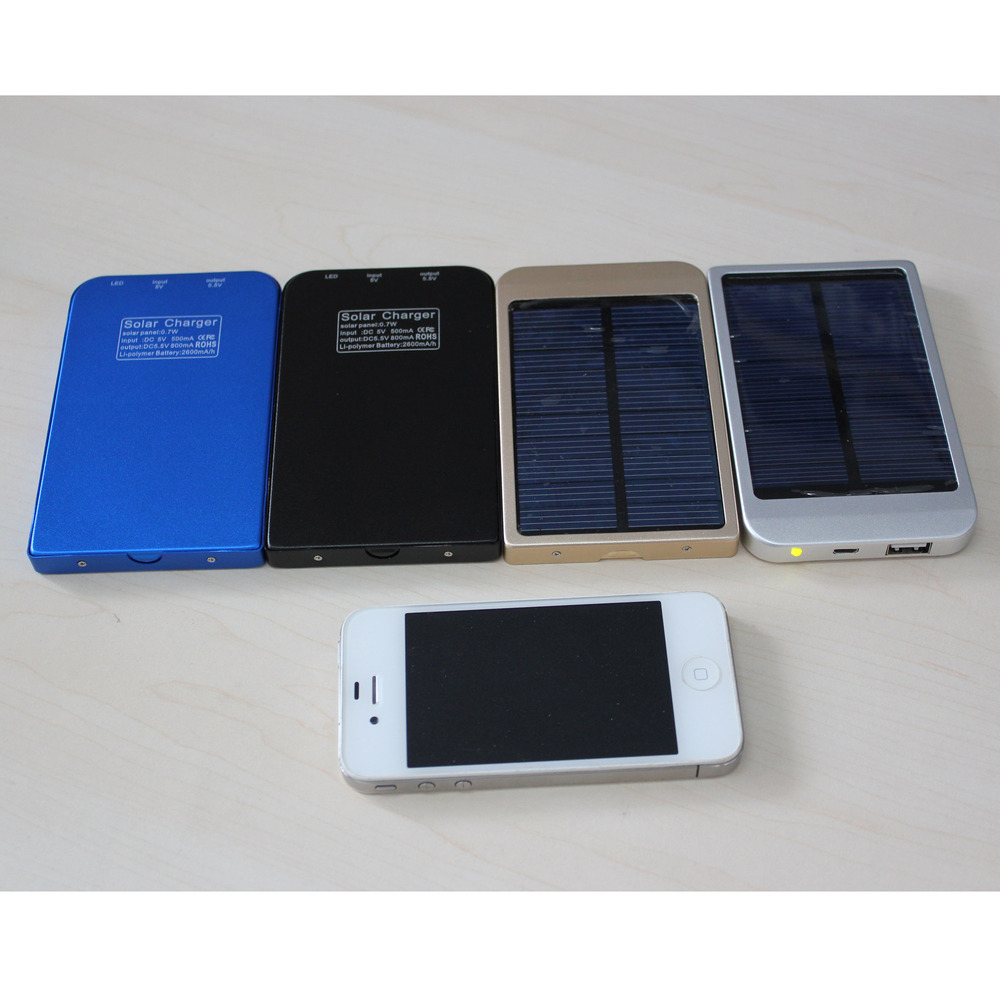 Wholesale from China Manufacture High Quality 2600mAh Universal Solar Mobile Phone Charger