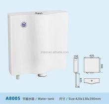 Plastic toilet flush tank with dual-push button (A8005)
