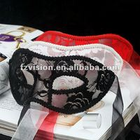 High Quality PVC Semitransparent Venice Party mask (white,black and red colors)