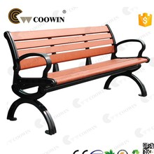 Morden long outdoor wooden bench