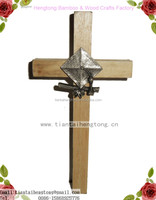 catholic cross, wooden cross with metal on, small wall crucifix