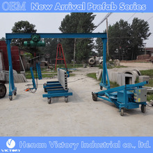 Concrete hollow core wall panel stacking lifting crane and with clamp