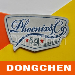 China manufacturer best selling fashion custom woven label, garment woven label