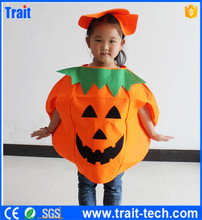 Cheap Wholesales Factory Price Carnival Pumpkin Costumes with Hat, Halloween Clothers, adult carnival costume