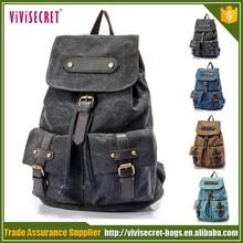 Compras en línea la lona vintage mejor marca de viaje mochila portátil