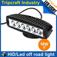 High quality 12v 18w light for off road/ SUV cars rectangle 18w car led work light