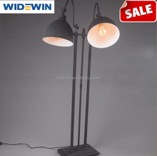 American rural contracted industrial floor lamp, wrought iron black restoring ancient ways is the sitting room the bedroom study