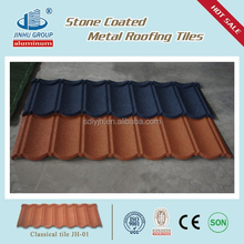 Double Roman Tiles Type and Coloured Glaze Material Color Stone Chipa Coated Metal Roofing Kenya