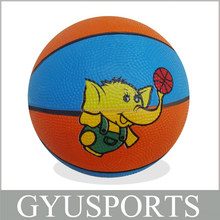GY-D023 Hot Sale cheap price rubber mini cute basketball for kids
