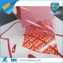 security void tape. safety adhesive tape, pvc insulation tape