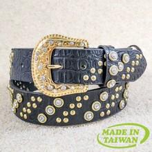 New design rainbow concho cowgirl western metal rhinestone belt
