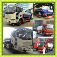 15ton Dongfeng Faw Howo Foton water tanker 15000 Liters Carbon steel Stainless tank 15cbm foton water sprinkling truck