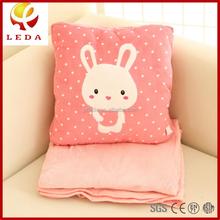 100cm*150cm Large Cute Cartoon Rabbit Plush Pillow & Super Soft Blanket