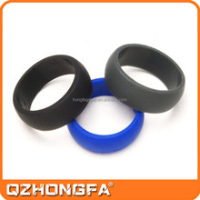 Custom design silicone wedding finger ring,fashion silicone wedding ring