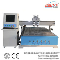 wood craft cutter engraver\two pneumatic head\HSD spindle\TBI ball screw\YASKAWA motor\CE,ISO9001
