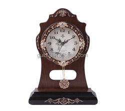 Fancy Designed Antique Wooden Table Clock with Alarm GBD-1071P