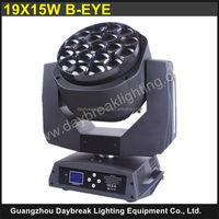 19x15W Bee eye LED Moving Head DJ Lights / B Eye k10 19x15 w stage lighting / Powercon connect design