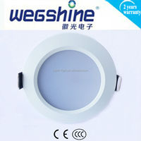 2015LED Ceiling Light Round Ultra Slim Mcob High Power 5W Ip44 Recessed Downlight Led