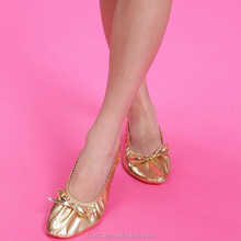 Manufacturer Girls' Dance Shoes Shiny Gold PU Performance Party Shoes