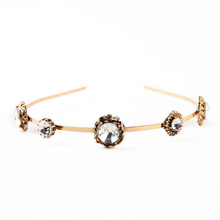 Hairband Crystal Gold Keep On Shining Wedding Charm Bridal Accessory