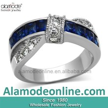 Fashionable Jewellery Diamond Anniversary Ring, Stainless Steel Jewelry