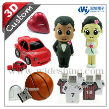 3D PVC USB for creative gifts, hot new products for 2014 promotional item