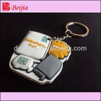 Wholesale custom design 3D silicone soft pvc rubber keychain
