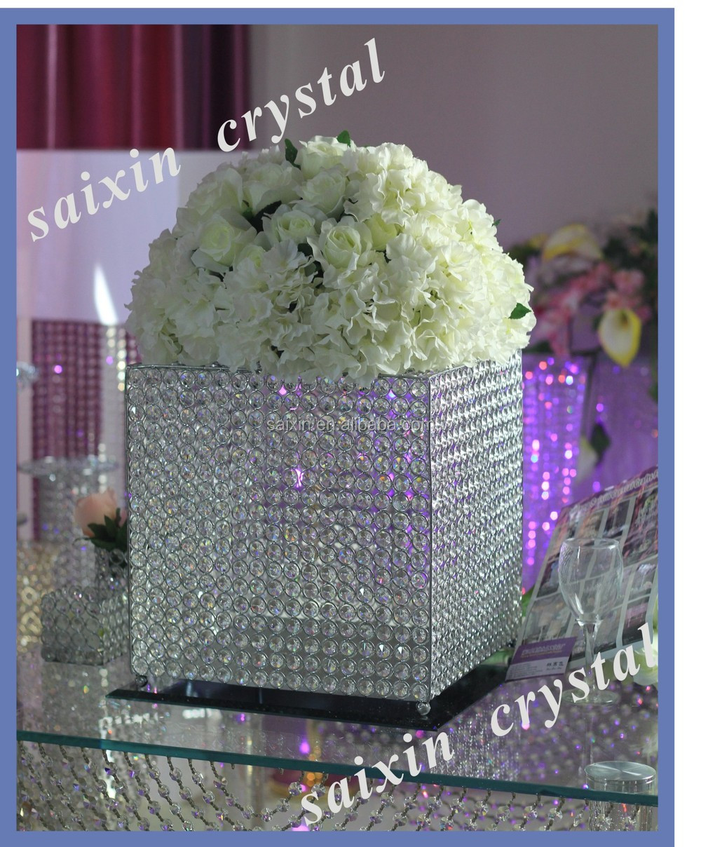 Beautiful wedding decoration glass mirror card box with