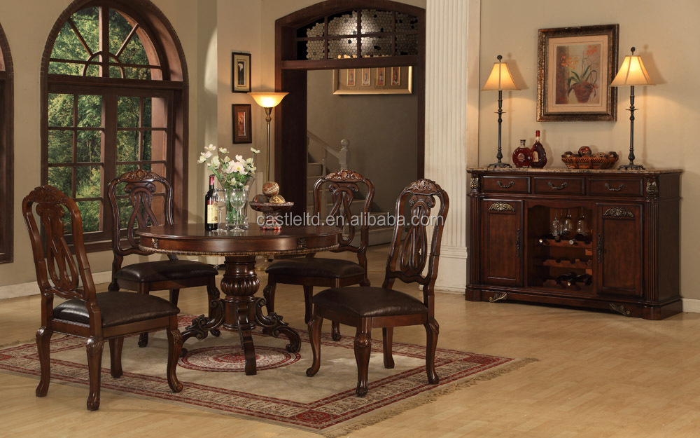 wholesale antique wooden dining room set home hotel dining