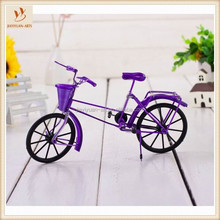 Small Desktop Exquisite Metal Wire Bicycle Model Gift Craft