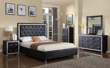 2015 New Arrival Le Charmel 5-Piece Low Profile Bedroom Set, Includes Queen Bed, Dresser, Mirror and 2 Night Stands(MB8024)