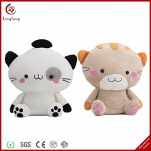 Couples lovers plush two color cat for valentine's day soft stuffed cat toys cartoon animal dolls