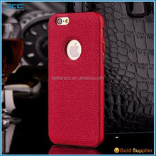 For iphone6 aluminum bumper case with pu leather Perfect design FOB shenzhen Manufacture From China