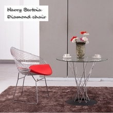 Metal Bird Nest Mordern stackable diamond dining chair