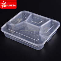 2 3 4 5 6 compartments clear disposable food lunch plastic box