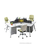 HC-AB788 2015 Waltz office furniture MFC/MDF panel office workstation, 3 person workstation