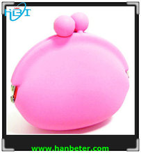 Mini round shaped Silicone coin wallet for children girls