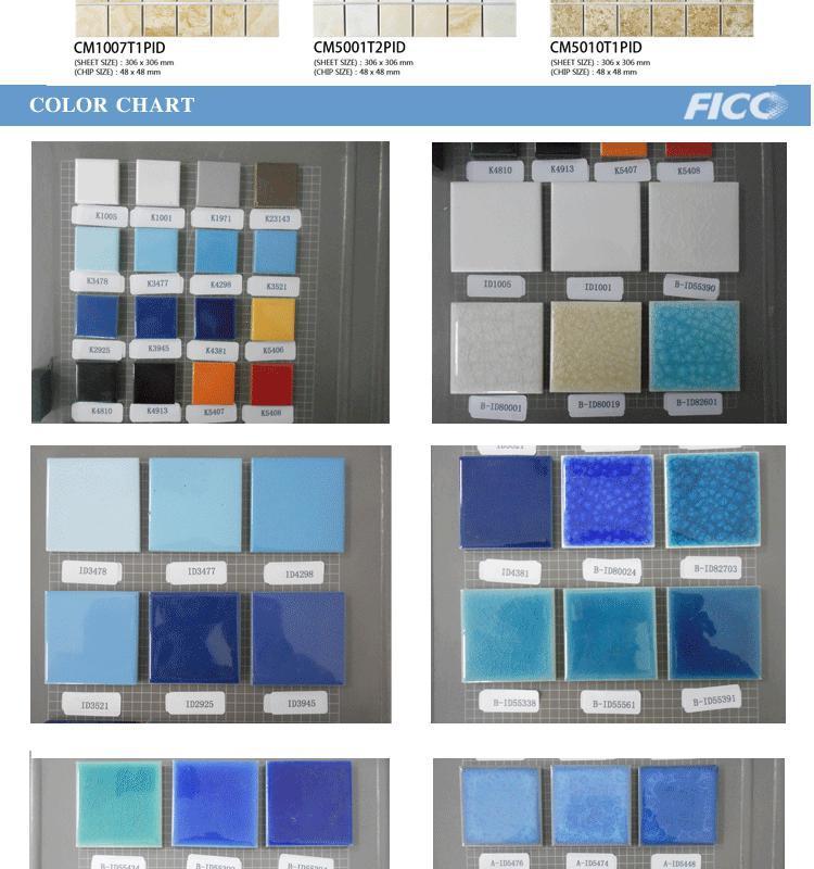 Cm55436iid marine bleu carreaux de mosa que de verre bleu carreaux de mosa qu - Piscine mosaique prix ...