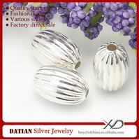 XD P472 Fancy Egg Shaped Design 925 Sterling Silver Beads Wholesale