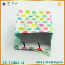 Recycle paper shopping bags cotton handle shopping bags foldable shopping bag