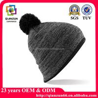 Fashion cheap winter ladies knit beanie cap