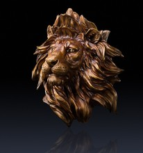 Household wall decoration pendant Glory to hang like Copper lion a pure copper wall hanging like a lion